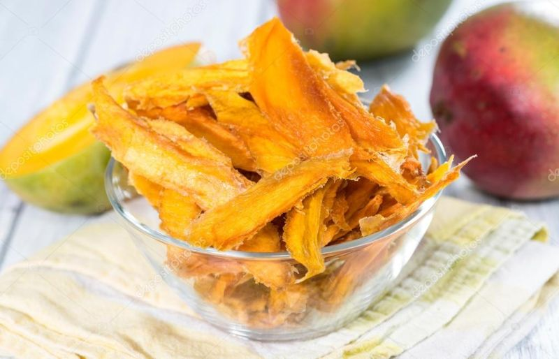 Dried Mango Lices in the Bowl